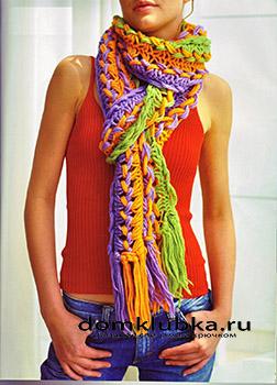 Разноцветный модный шарф