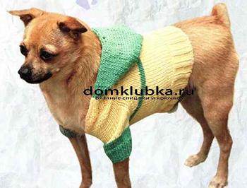 Кофта с капюшоном для собак