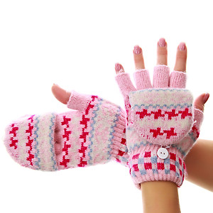 Варежки-перчатки для девочек