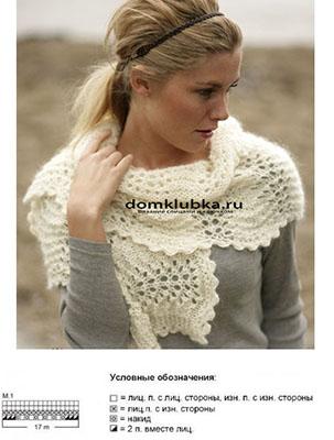 Волнообразный ажурный шарф