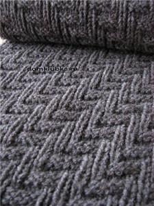 Узоры спицами для шарфа