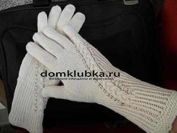 Красивые перчатки связанные спицами