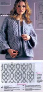 Фото и схема для вязания кофточки