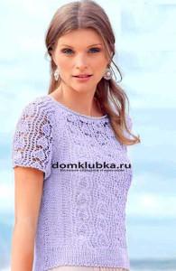 Стильная фиолетовая летняя кофточка