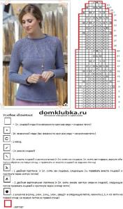 Схема для вязания пуловера