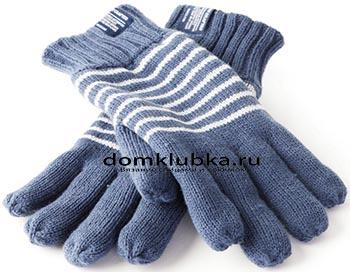 Синие мужские перчатки