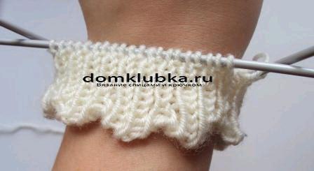 Вязание манжета рукавичек