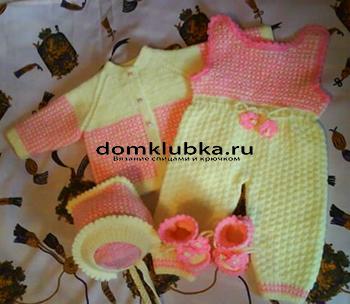 Модный костюм для малышки