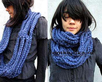 Стильный круглый шарф