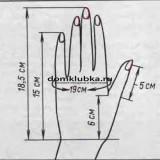 Bязание модных рукавичек