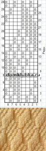 Шахматное вязание