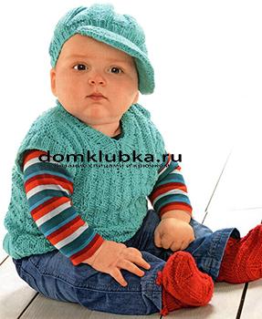 Безрукавка спицами для малышей
