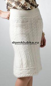 Белая ажурная юбка