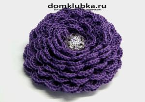 Аксессуар фиолетовая роза