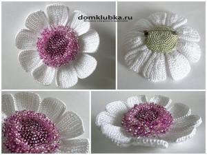 Аксессуар цветок с бисером