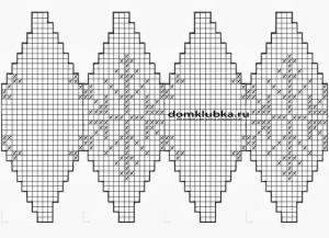 схема вязания шара снежинки