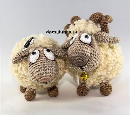 Оригинальные вязаные овечки