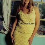 Жёлтое платье для полных