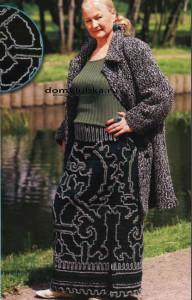 Длинная юбка для полной женщины