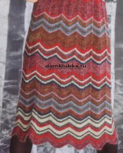 Длинная разноцветная юбка для полных