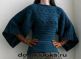 Как вязать рукав кимоно спицами. Рукодельница