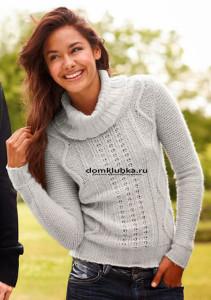 Серый шерстяной свитер
