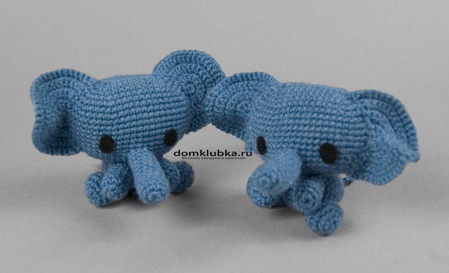 Милые вязаные слоники
