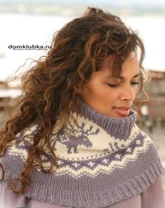 Вязаный шарф постельных цветов