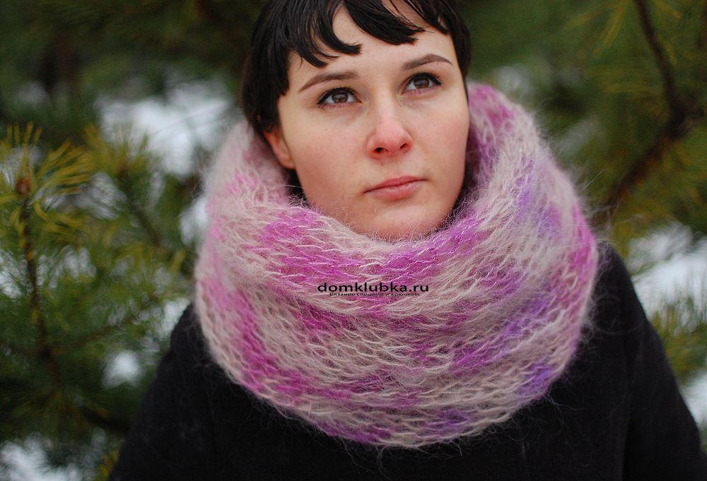 Вязаный шарф из мохера