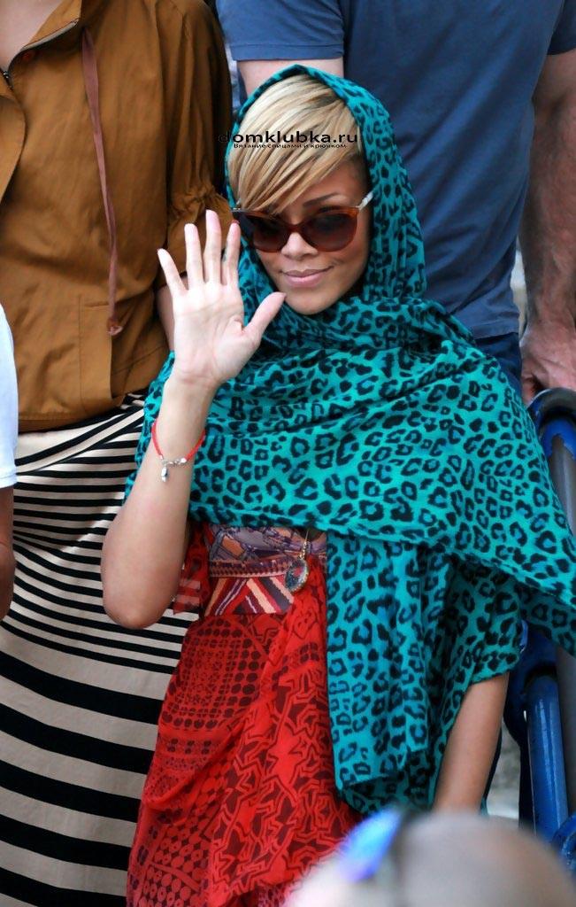 Сине-леопардовый шарф
