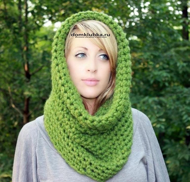 Красивый зелёный шарфик