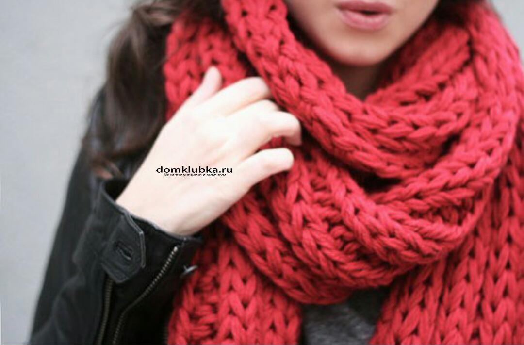 спицами французский шарфик вязать