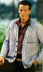 Вязание спицами мужских кофт