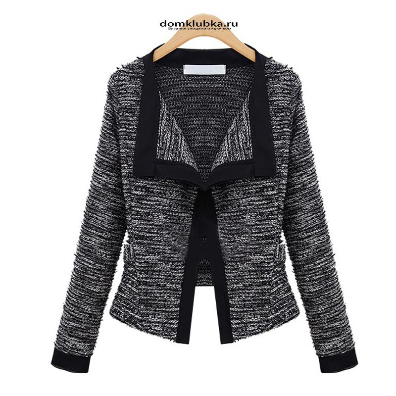Стильная вязаная куртка