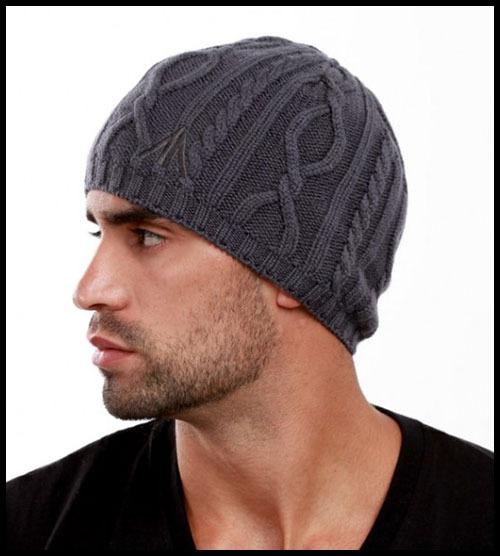 Мужская шапочка вязание спицами видео