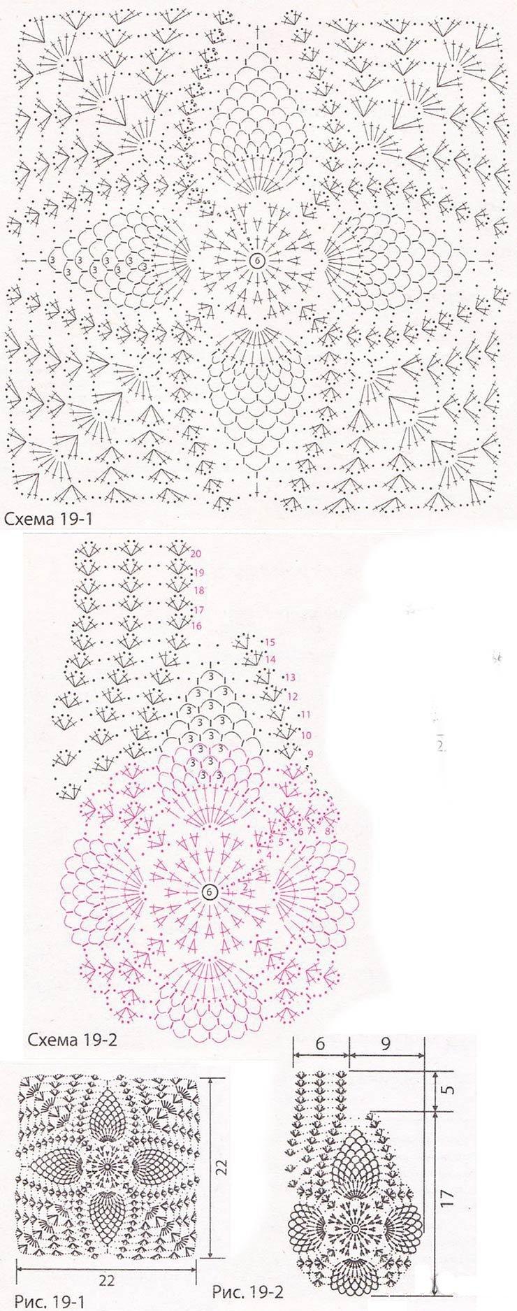 Схема вязания легкого болеро