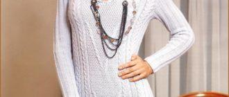 Вязанное платье женское