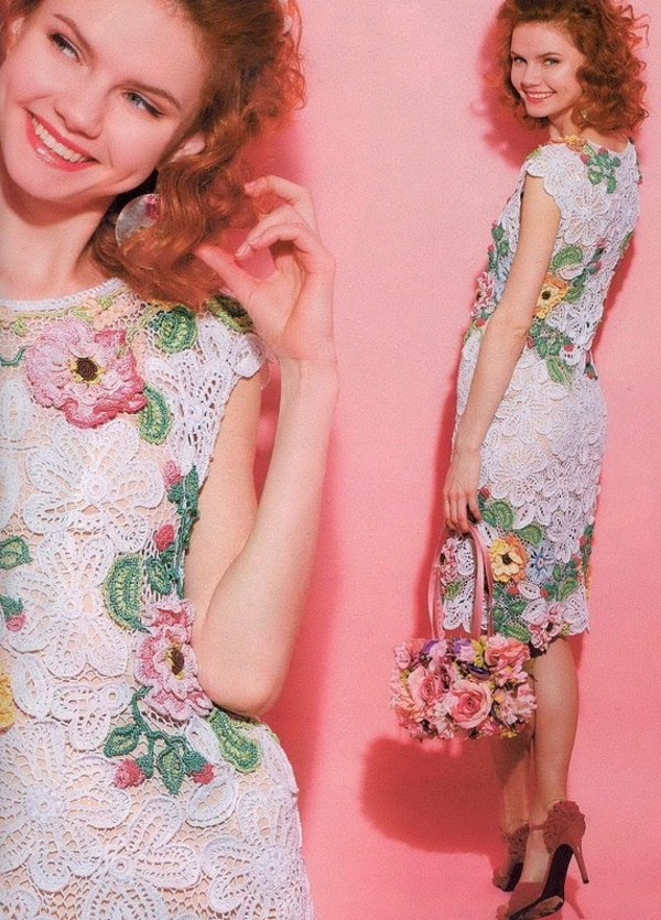 Вязаное платье – модный и уникальный элемент гардероба. Очень много фото и инструкций