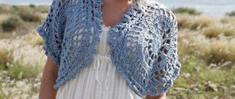 Болеро для вязания крючком