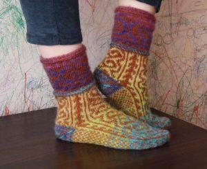 Вязание носков для начинающих на двух спицах