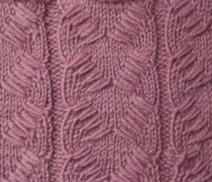 Узоры с вытянутыми петлями спицами со схемами