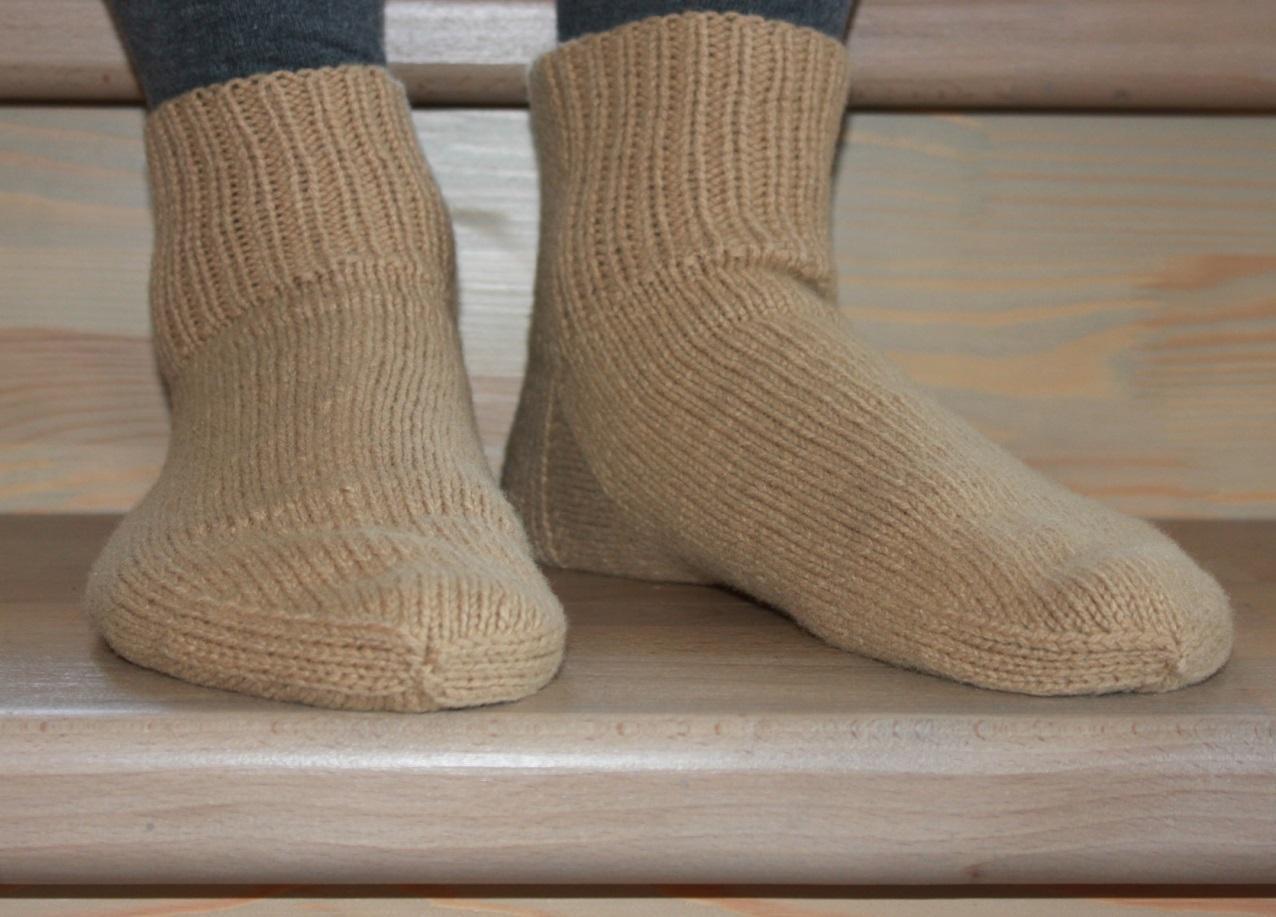 Вяжем носок спицами