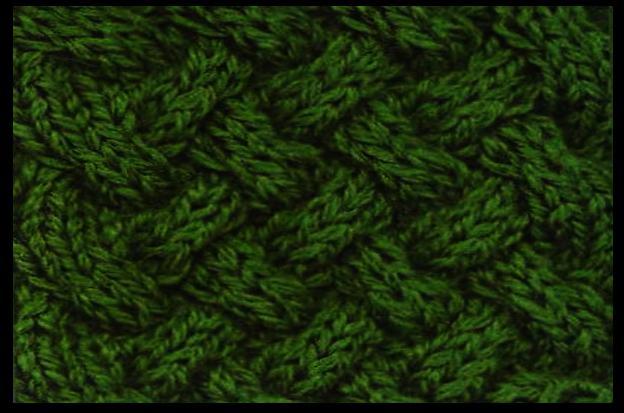 Вязание на спицах узора плетенка